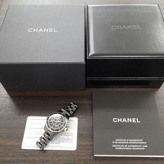 CHANEL - シャネル J12 黒 セラミック H0682 新型バックル 腕時計