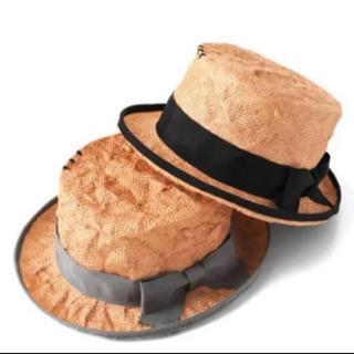 メゾンドリーファー(Maison de Reefur)のMAISON DE REEFUR♡カンカン帽 ブラック(麦わら帽子/ストローハット)