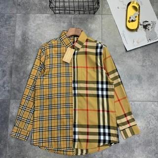 BURBERRY - Burberry 新品 男女兼用長シャツ 高品質 カジュアル