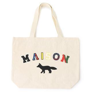 メゾンキツネ(MAISON KITSUNE')の新品 メゾンキツネ トートバッグ ブランド エコバッグ キャンバス バッグ ロゴ(トートバッグ)