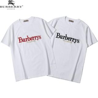 BURBERRY - 2枚セット ロゴ刺繍 男女兼用Tシャツ 半袖 カジュアル