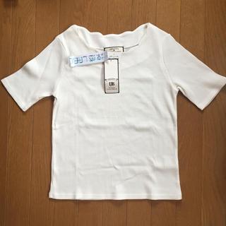 新品 タグ付き 半袖カットソー 白 涼感素材