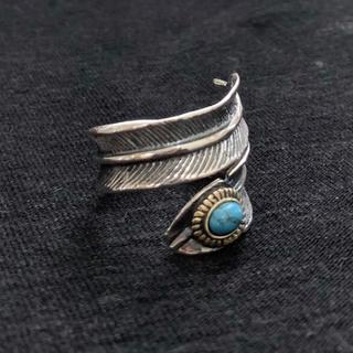 シルバー925 天然石ターコイズフェザーリング ターコイズリング (リング(指輪))