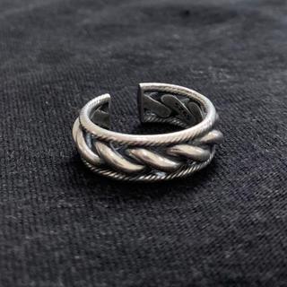シルバー925  チェーンリング シルバーリング 編み込み(リング(指輪))