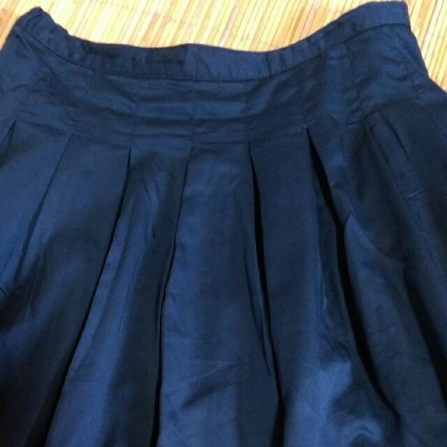 NEEDLE WORK SOON(ニードルワークスーン)の【needlework soon】新品タックスカート ネイビー レディースのスカート(ロングスカート)の商品写真