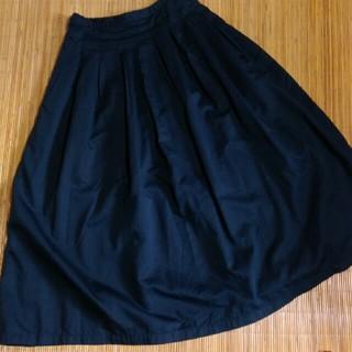 ニードルワークスーン(NEEDLE WORK SOON)の【needlework soon】新品タックスカート ネイビー(ロングスカート)