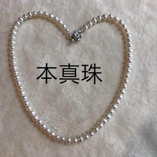 本真珠ネックレス  淡水パール  本物  シルバー