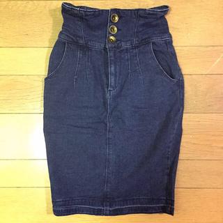 ダズリン(dazzlin)のデニムコルセットスカート(ひざ丈スカート)