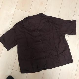ジーユー(GU)のリネンブレンドカラーシャツ(シャツ/ブラウス(半袖/袖なし))