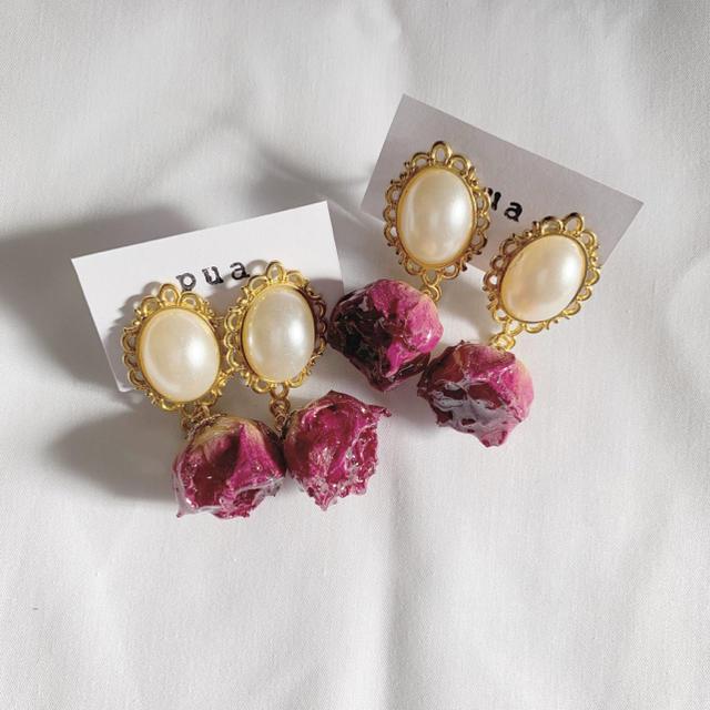 rose perl ハンドメイドのアクセサリー(ピアス)の商品写真