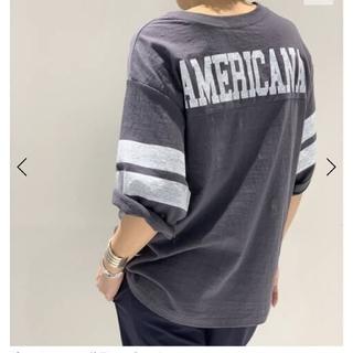 AMERICANA - 新品未使用♪AMERICANA ボーイフレンド フットボール Tシャツ