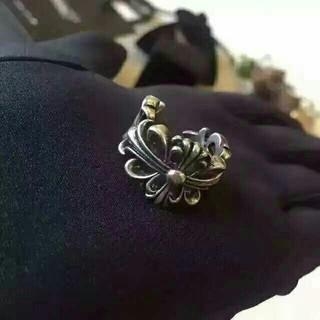 クロムハーツ(Chrome Hearts)の美品 クロムハーツ ダガーハートリング(リング(指輪))