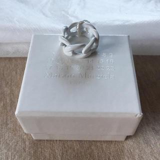 マルタンマルジェラ(Maison Martin Margiela)のXS新品 マルジェラ ペイント チェーンリング 18SS(リング(指輪))