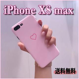 【iPhone XS max】シングルハート ピンク 可愛い スマホ ケース