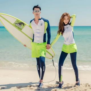 激安♡5点セット水着♪緑 レディース ラッシュガード 体型カバー ビキニ 海(水着)