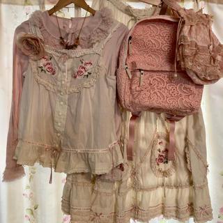 PINK HOUSE - ピンクハウス♪薔薇の刺繍 🌹ブラウス&スカート 他、合計7点セット