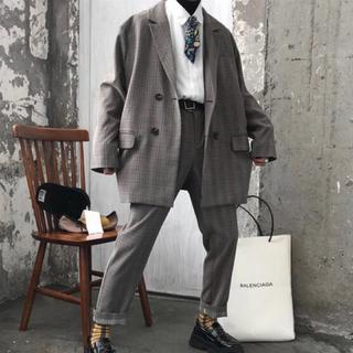 韓国ファッション セットアップ モード ストリート スーツ 韓国 古着