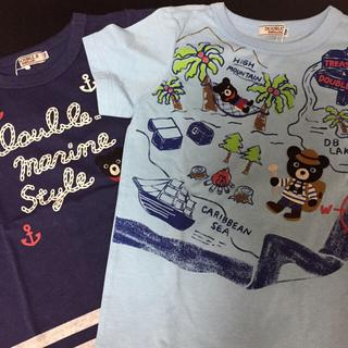 DOUBLE.B - ダブルビー  Tシャツ2枚セット110 未使用