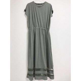 しまむら - 未使用 裾透かし編み ロング ワンピース