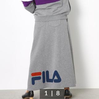 ロデオクラウンズワイドボウル(RODEO CROWNS WIDE BOWL)のFILA×PEACスウェットスカート(ロングスカート)