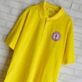 古着シャツ ポロシャツ 半袖 adidas イエロー メンズ HY115(ポロシャツ)