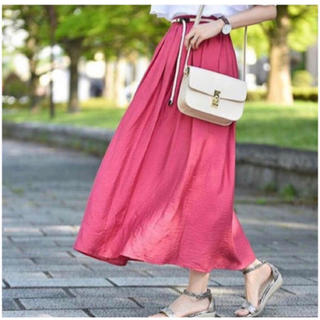 しまむら - しまむら スカート  MUMU コラボ L ピンク