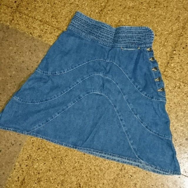 TSUMORI CHISATO(ツモリチサト)のツモリチサト ジーンズ スカート ボタン ステッチ レディースのスカート(ミニスカート)の商品写真