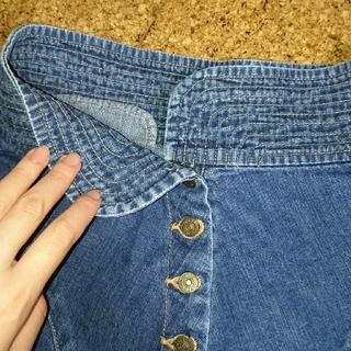 ツモリチサト(TSUMORI CHISATO)のツモリチサト ジーンズ スカート ボタン ステッチ(ミニスカート)