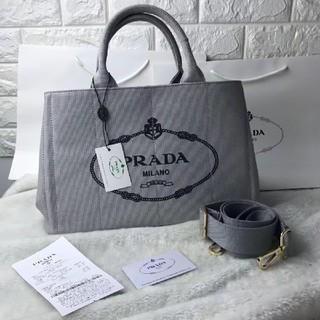 PRADA - PRADAカナパMサイズ グレー