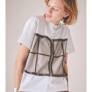 【AMERI】別注チュールドッキングTシャツ