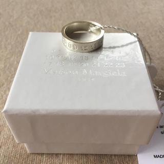 マルタンマルジェラ(Maison Martin Margiela)の19AW新品L マルジェラ ナンバリング ロゴ FRAGILE リング 今期(リング(指輪))