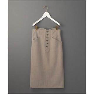 BEAUTY&YOUTH UNITED ARROWS - 6(roku) beauty&youth フロントボタンタイトスカート
