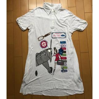 アッシュペーフランス(H.P.FRANCE)のBARBARARIHL トラベル襟付きTシャツ(Tシャツ(半袖/袖なし))