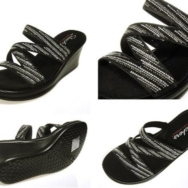 SKECHERS(スケッチャーズ)の新品43%OFF♪メチャかわ♪スケッチャーズ大人キラキラウェッジサンダル/24 レディースの靴/シューズ(サンダル)の商品写真