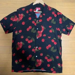 Supreme - 19ss supreme cherry rayon s/s shirt