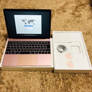 マック(Mac (Apple))のApple MacBook 12インチ 2017 ローズゴールド(ノートPC)