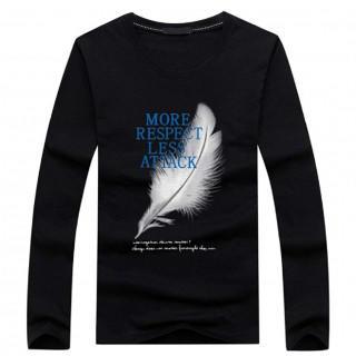 メンズ カットソー Tシャツ 長袖 ウイング 羽根 トップス 英字 ロゴ(Tシャツ/カットソー(七分/長袖))