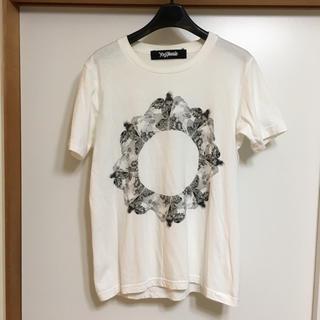 ヨウジヤマモト(Yohji Yamamoto)のロゴ入り ヨウジヤマモト レスリーキー  (Tシャツ/カットソー(半袖/袖なし))