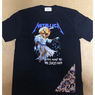 海外ショップ 輸入品 メタリカ バンドTシャツ ブラック ドクロ 半袖(Tシャツ/カットソー(半袖/袖なし))