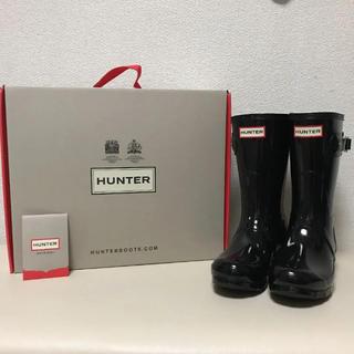 ハンター(HUNTER)の【新品】HUNTER レインブーツ ショート ブラック(レインブーツ/長靴)