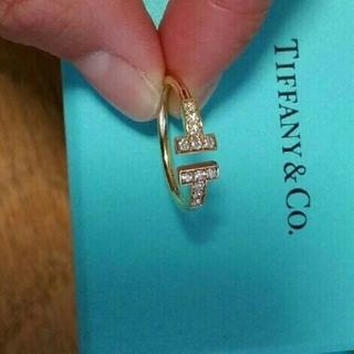 Tiffany & Co. - 【正規品】ダイヤモンド Tワイヤーリング