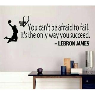 ♛新品セール♛レブロンJ✨ウォールステッカー★失敗を怖れないことは成功への近道☆