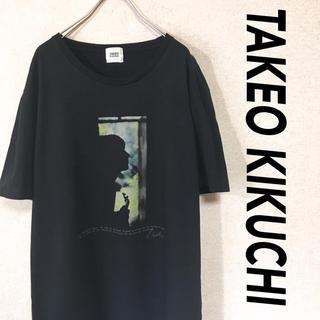 タケオキクチ(TAKEO KIKUCHI)のTAKEO KIKUCHI タケオキクチ 半袖 Tシャツ 黒 デザイン シャツ(Tシャツ/カットソー(半袖/袖なし))