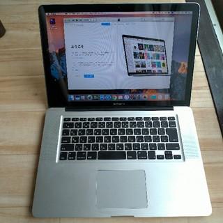 マック(Mac (Apple))のMacBookPro 15  2011 メンテ済 可動ジャンク  DVD可(ノートPC)