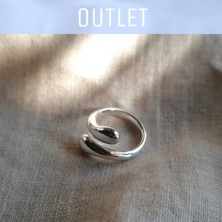 AZUL by moussy - 【※ワケあり/数量限定※】silver drop ring *
