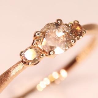 トクトクジュエリー ローズカット ダイヤ ダイヤモンド 18金 リング
