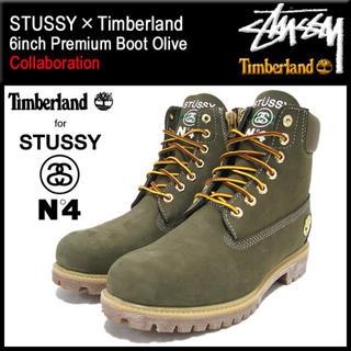 ティンバーランド(Timberland)のSTUSSY×Timberland 6インチ プレミアム ブーツ オリーブ(ブーツ)