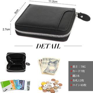 本革コインケース 財布 小銭入れ カードケース メンズ 牛革 多機能