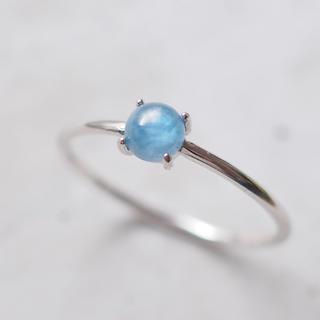 高品質カイヤナイトの一粒リング ete agete アダムエロペ イエナ(リング(指輪))