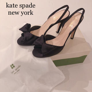 kate spade new york - kate spade new york サテンリボンパンプス